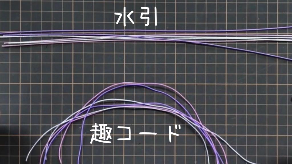 水引と趣コード(ShuCODE)、結んでしまえは差はないが、結ぶ前の時点ではこんなに違う。