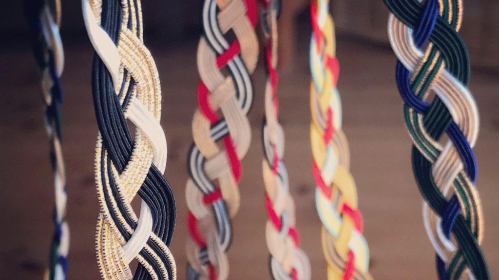 水引を使った四つ編みアレンジ【タータンチェックバンド】の作り方
