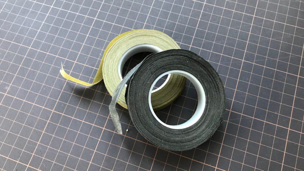 水引細工にも使用できるフラワーテープ(フローラルテープ)