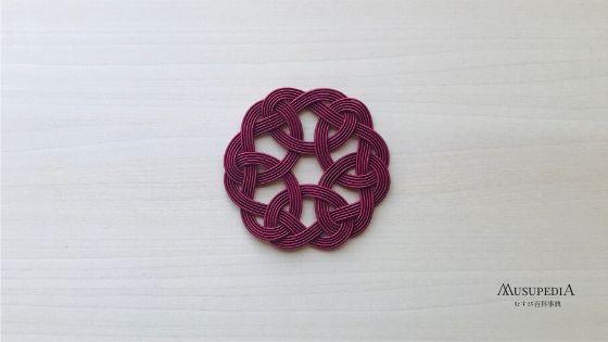 袈裟結び独特の輪っかのみで作る結び方