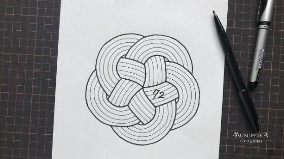 梅結びは絵に描いたような完全な五角には物理的にできない