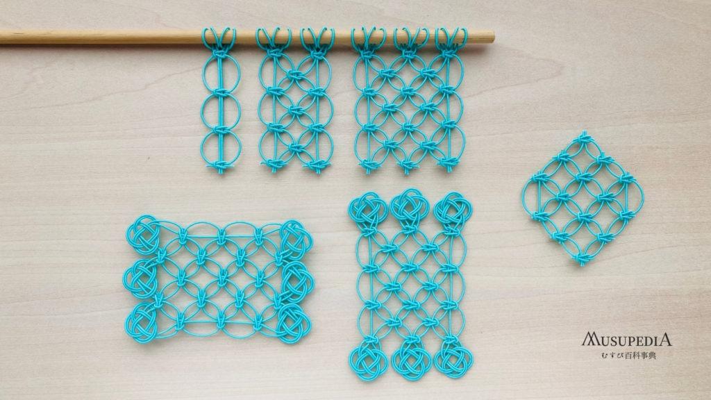 水引での七宝結びのパターン
