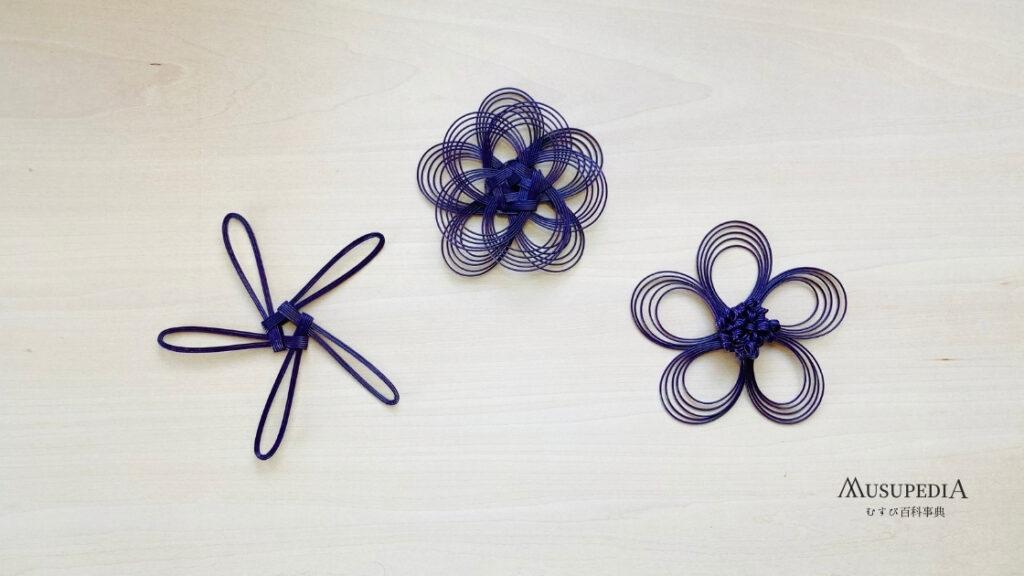 水引を組む花の結びの作り方