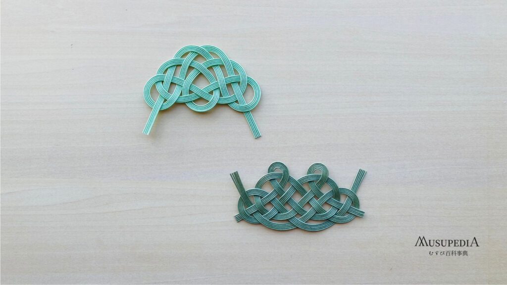松結びの基本形と珍しい変形