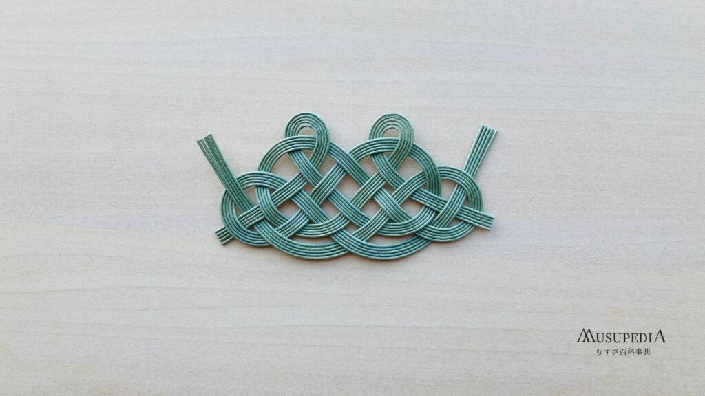 珍しい松結びの変形 古典水引結び